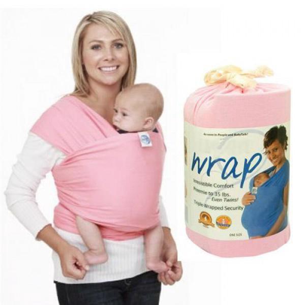 Jual Gendongan Bayi Moby Wrap Pink Gendongan Kangguru Baby