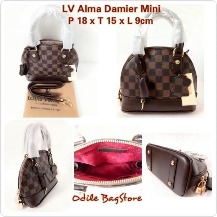41b339613c32 Jual Tas LV Alma Damier Mini 18cm - LV Alma Mini Damier - Jakarta ...