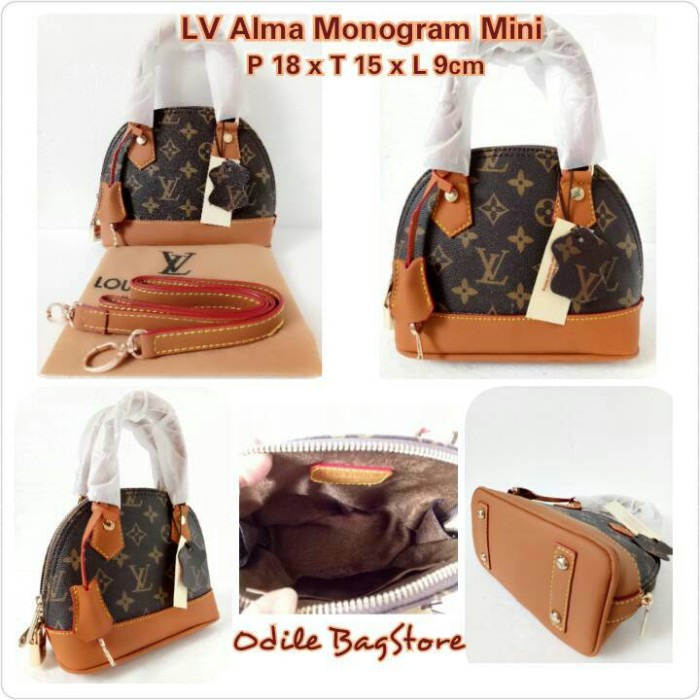 f4e845d98765 Jual Tas LV Alma Monogram Mini 18cm - LV Alma Mini Monogram ...