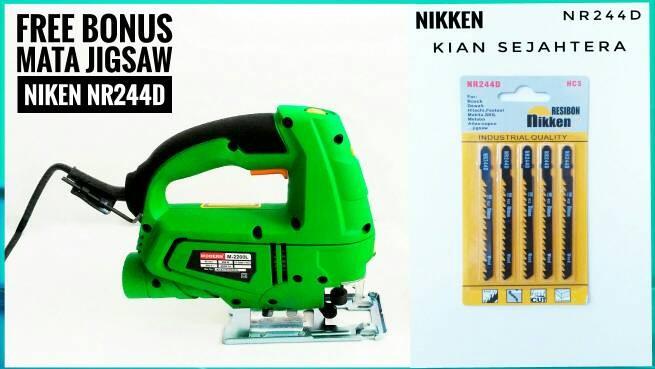 harga Bonus !!!!5pc Mata Jig Saw Nikken Resibon Nr244d,jigsaw Modern 2200l Tokopedia.com
