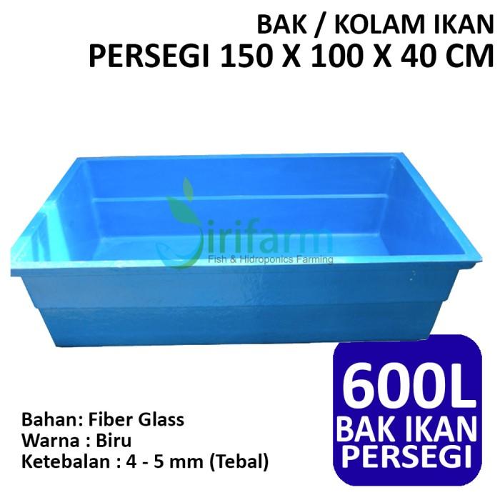 harga Bak / kolam ikan persegi 150 x 100 x 40 cm fiber tebal berkualitas Tokopedia.com