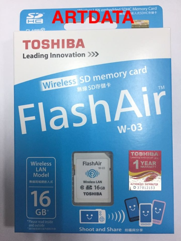 harga Toshiba Flashair 16gb Wifi Sd Card Wireless Lan Flash Air Original Blanja.com