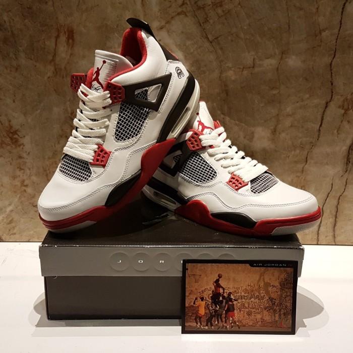 buy online 559d6 71f12 good air jordan 4 retro brooklyn fire red mars spike lee new authentic  0c23b 8c7b2