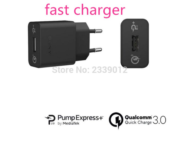 Quick Charger Sony 2A Original 100% UCH10/UCH12 Ori/USB Fast Xperia