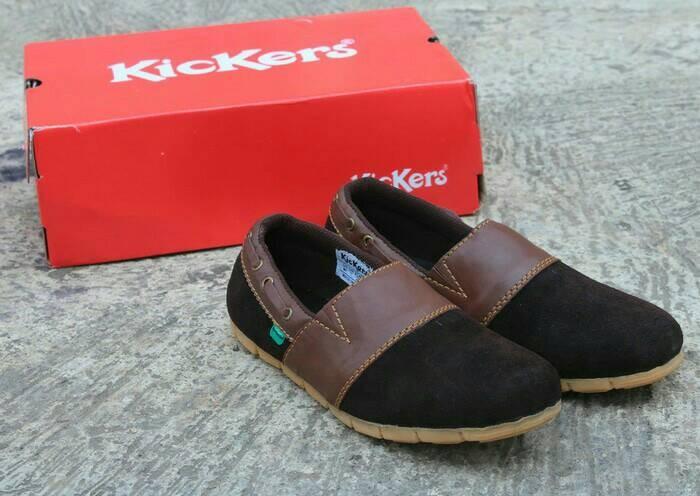 harga Sepatu casual pria slip on slop hitam kickers shoes Tokopedia.com
