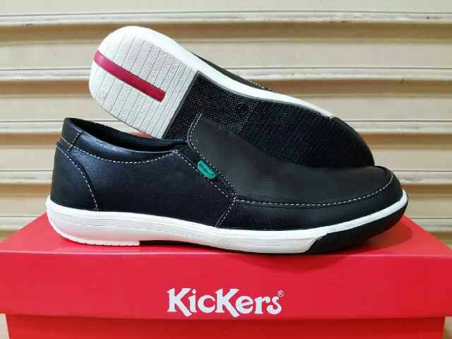 Sepatu Kulit Slip On Slop Kickers Premium Leather Grade Original ... 5965f4119c