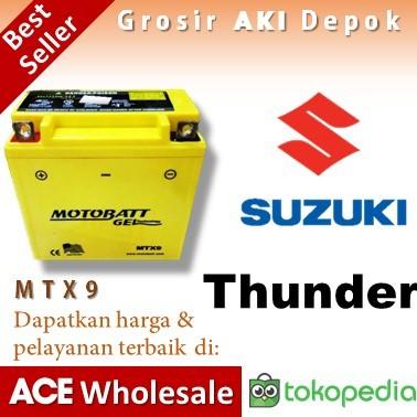harga Aki thunder suzuki mtx9 motobatt accu motor gel kering u/ yuasa gs Tokopedia.com