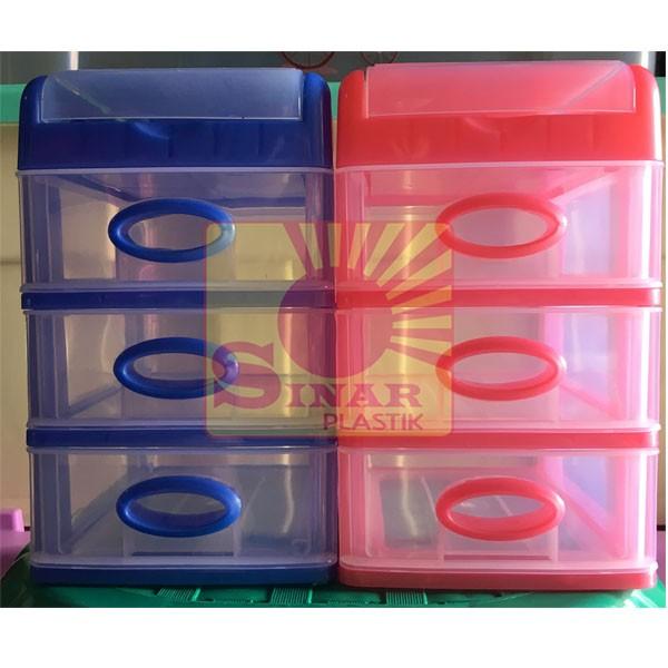 harga Laci Container Plastik Mini | Mini Laci Shinpo Susun 3 + Slot Atas Tokopedia.com