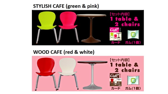 harga Re-ment miniature stylish cafe / wood cafe - 1 table 2 chairs - barbie Tokopedia.com