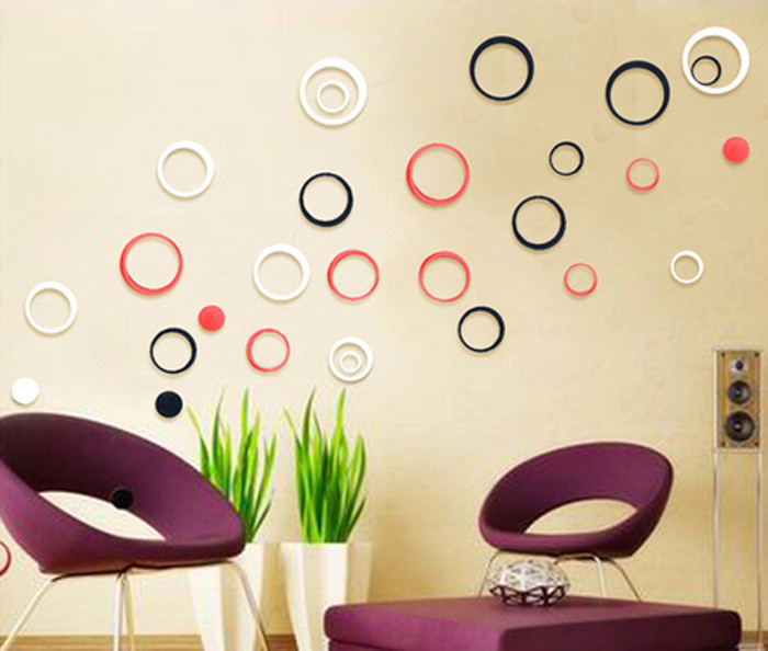 jual terbatas wall sticker 3d model lingkaran murah meriah - angki