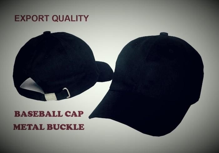 harga Topi Polos Baseball Distro Pengatur Ukuran Metal Buckle Tokopedia.com