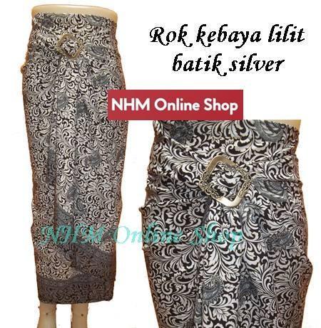 harga Rok lilit batik/rok pasangan kebaya/bawahan kebaya silver Tokopedia.com
