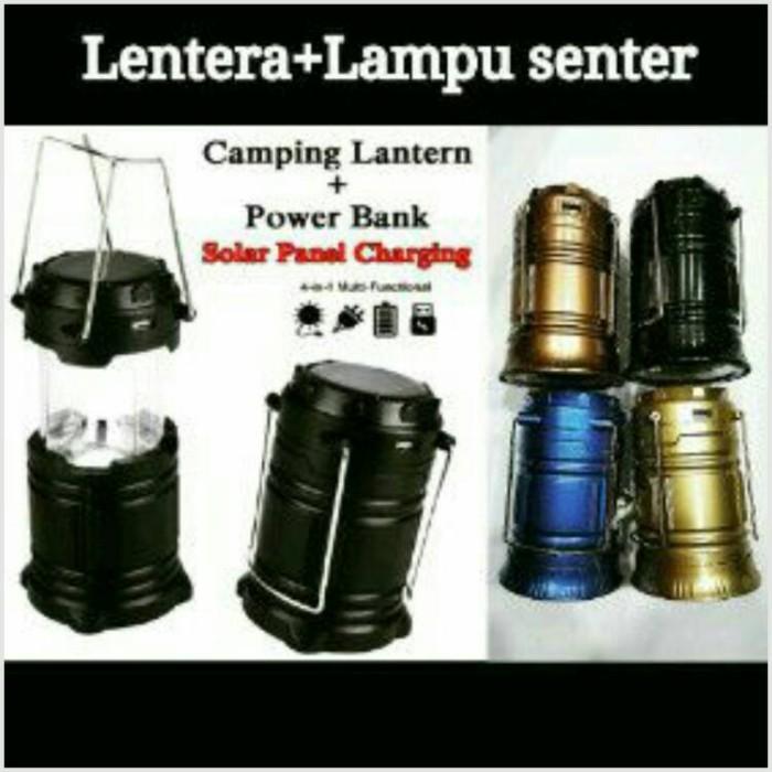 3in1.... lentera + lampu senter camping nyala tarik bisa power…