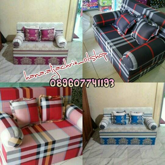 harga Inoac sofa bed / sofabed tipe 4 uk 200x120x20 garansi kempes 10tahun Tokopedia.com