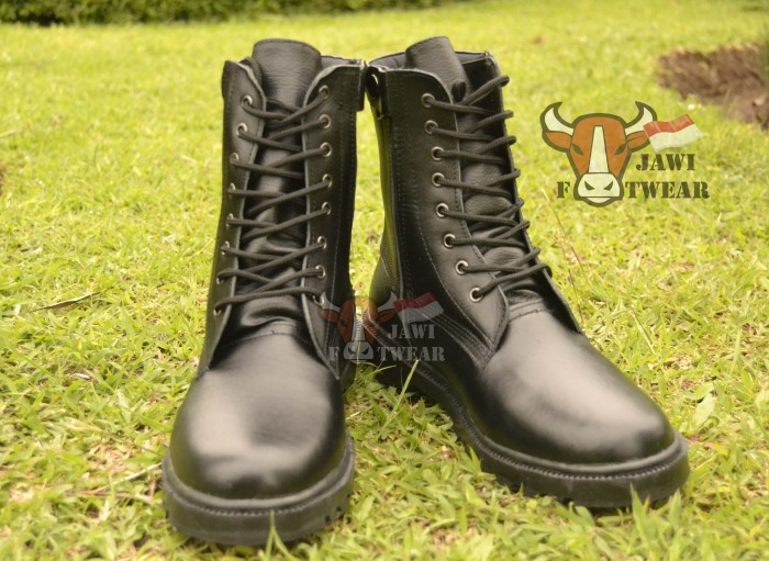 harga Sepatu pdl kulit | tni | polri | security | linmas | tali resleting Tokopedia.com