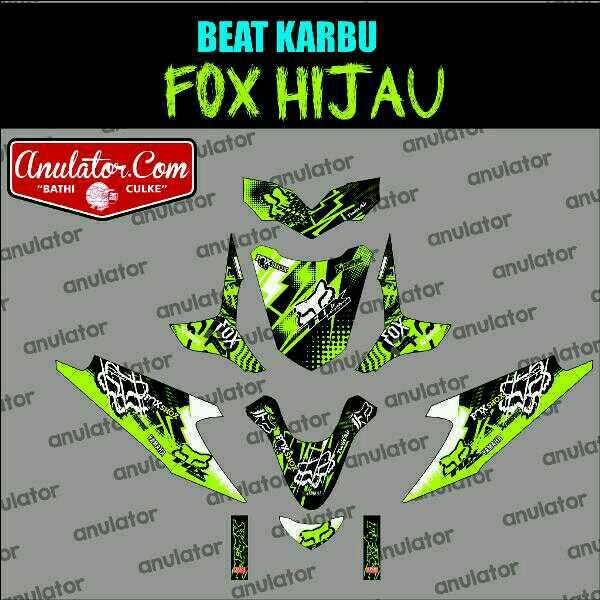 Jual Striping Honda Beat Karbu Fox Hijau Filink Modifikasi Tokopedia