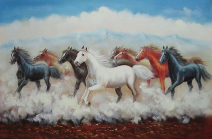 harga Repro gambar lukisan 8 ekor kuda horse ma hoki feng shui jaya kaya Tokopedia.com