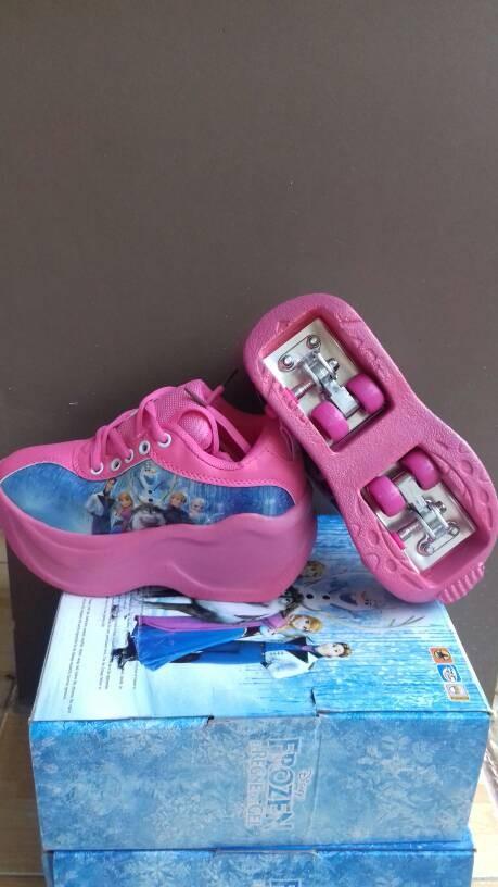 Jual roller shoes (sepatu roda anak roda 2) frozen warna ungu pink ... b2ad39be2b