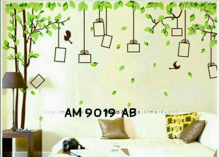 jual special wall sticker stiker dinding am9019ab new stock - dki