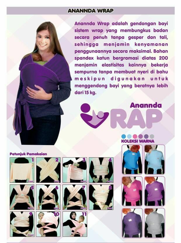 Jual Anannda Baby Wrap Gendongan Kangguru Ananndapers 4sta Tokopedia