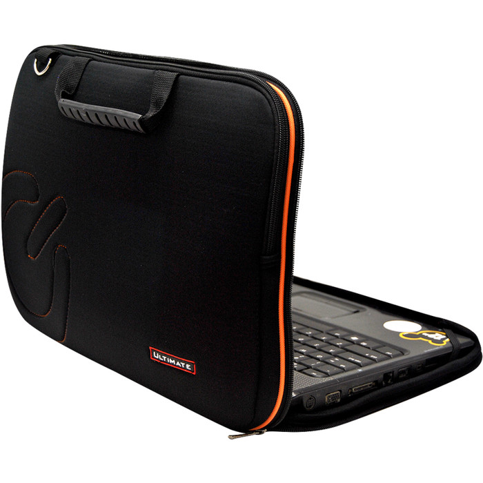 "Tas Laptop Ultimate - Notebook Double Slim Logo 12"" - Hitam"