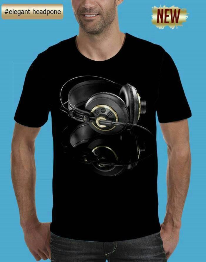 harga Kaos Pria 3d Airphone,t Shirt 3d Headset,tshirt 3d Pria Headphone Tokopedia