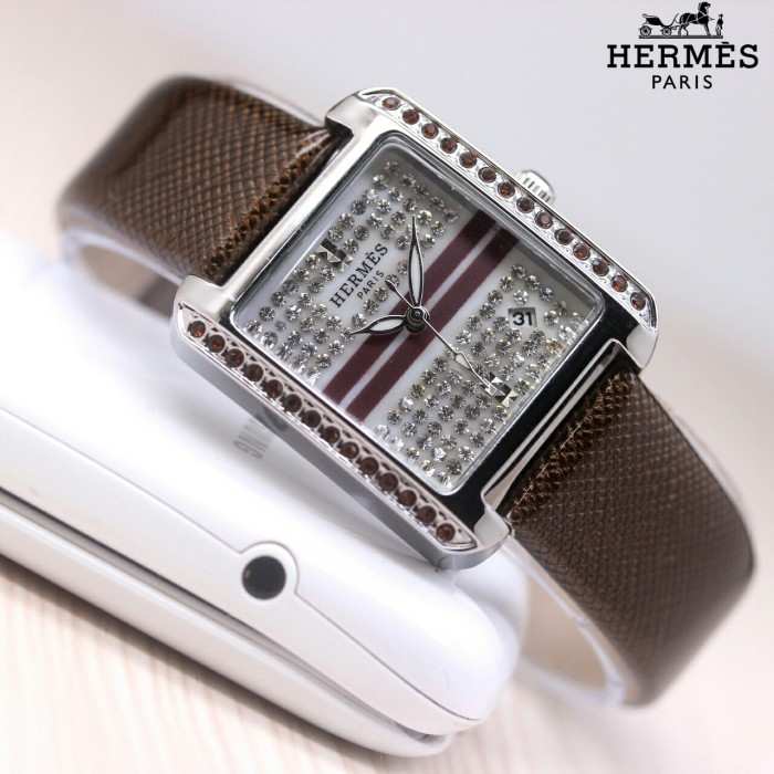Jual Ready 5 Pilihan Warna Jam Tangan Trendy Fashion Wanita Hermes ... 53e6b86a78