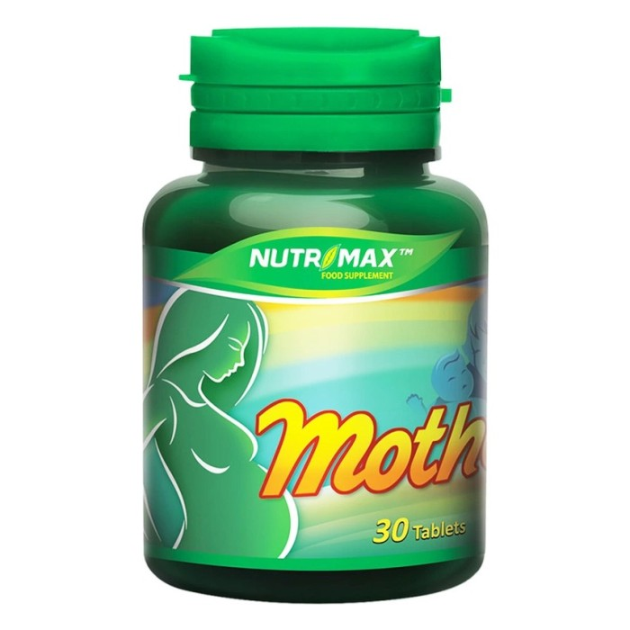 harga Nutrimax mother 30 tablets Tokopedia.com
