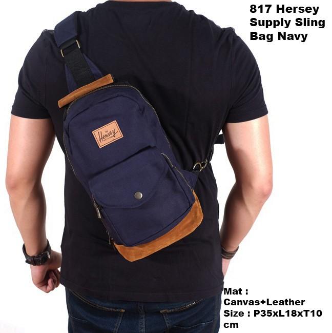hersey supply slingbag navy   tas sling bag pria   tas pria selempang f7254ce568