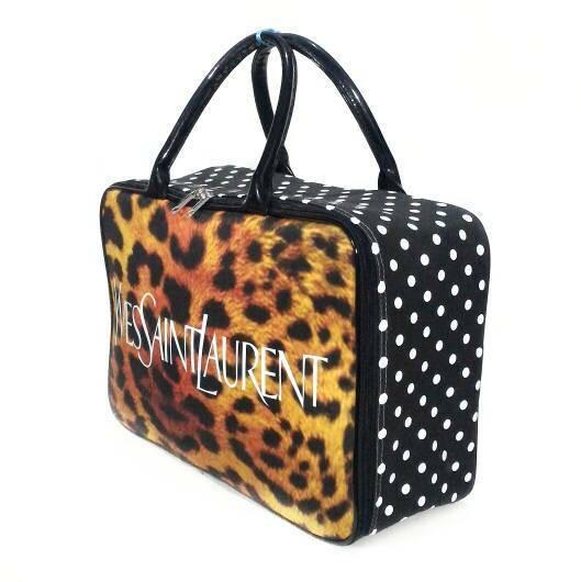 Tas travel YSL leopard coklat hitam kanvas tebal koper renang piknik anak dewasa_4