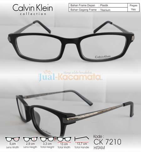 Jual Kacamata Frame CALVIN KLEIN CK7210 Hitam + Free Lensa Minus ... 930df9f706