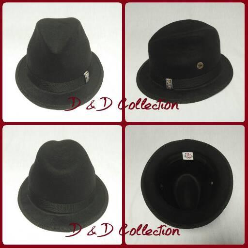 Jual Topi Fedora bahan laken dewasa   Topi tompi - D   D Hat ... 94b3f24e82