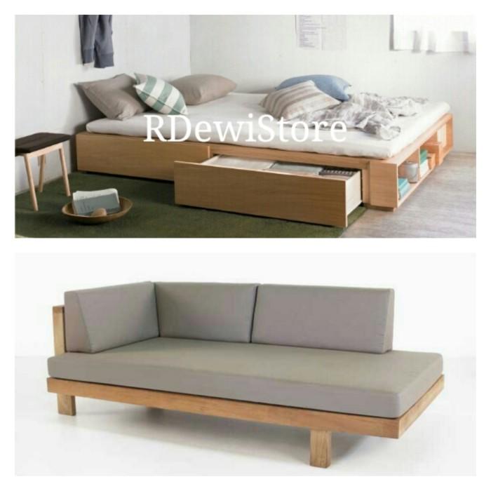 Jual Tempat Tidur Lesehan Dan Sofa Jati Minimalis Custom Kab