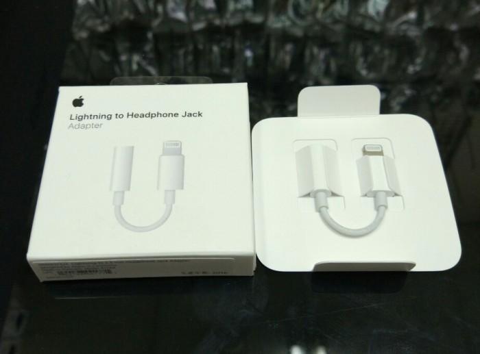 harga Converter Apple Iphone 7 Jack Audio Headset Earphone Original 100% Tokopedia.com