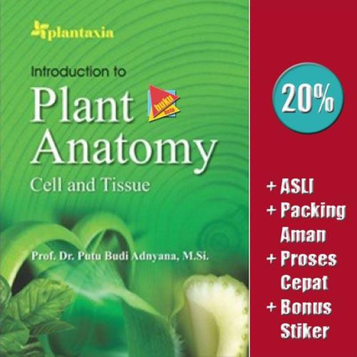 Jual Introduction to Plant Anatomy, Cell and Tissue - Putu B Murah ...