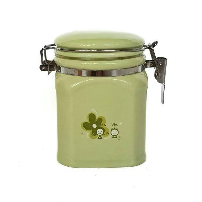 harga Gelas   mug   cangkir toples keramik tempat bumbu green Tokopedia.com