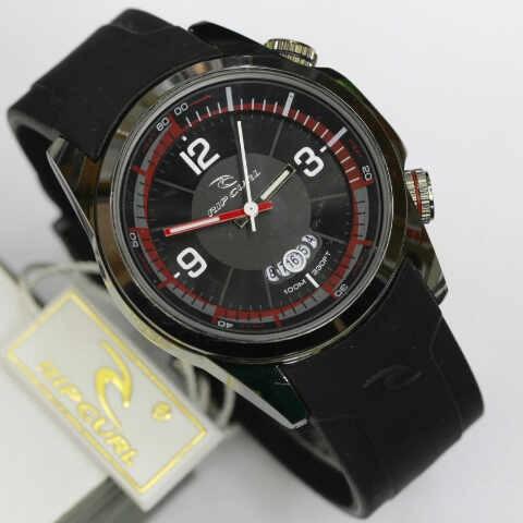 jam tangan pria /cowok ripcurl rip curl tali karet model skmei g-shock