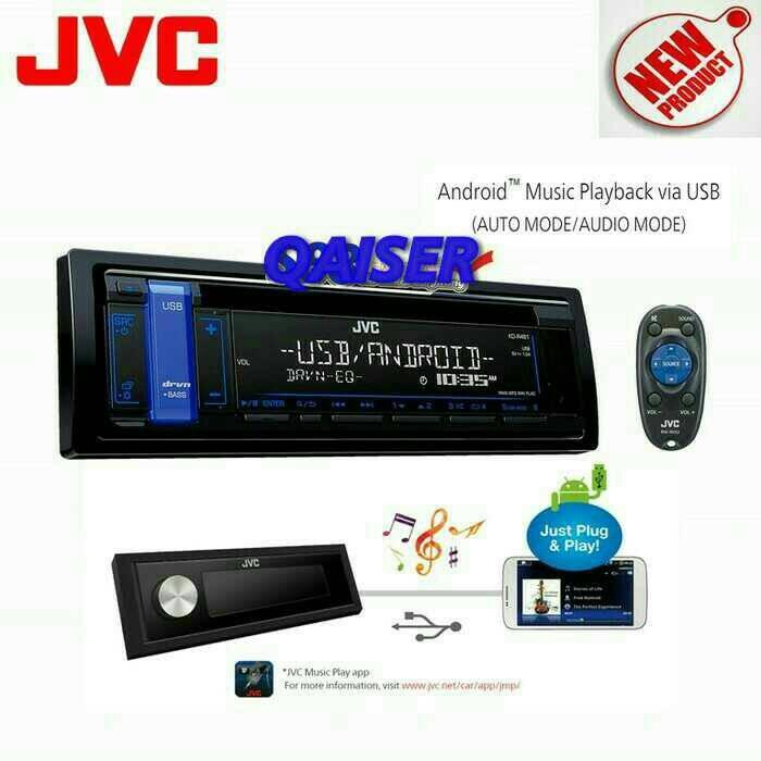 harga Single din jvc kd-r481 cd usb mp3 android flac Tokopedia.com