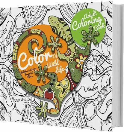 Adult Coloring Book Color Of Wild Life Ranggi Ariliah
