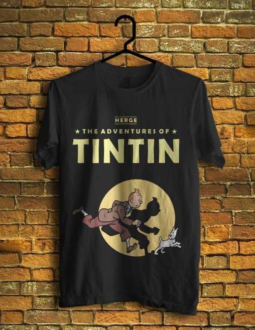 harga Kaos tintin adventures kaos kartun jadul hitam (s - xxl) Tokopedia.com