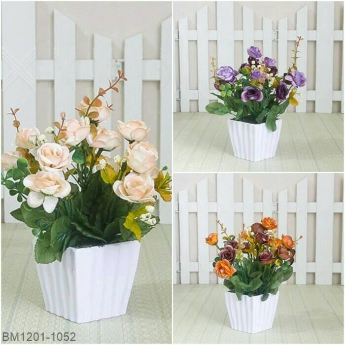 Bunga Mawar Hias Hiasan Meja