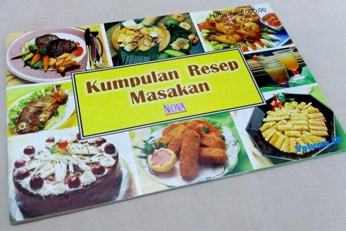 Buku Kumpulan Resep Masakan Majalah Nova Maret
