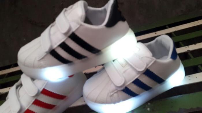 harga Sepatu lampu nyala anak kids led shoes adidas superstar import murah Tokopedia.com