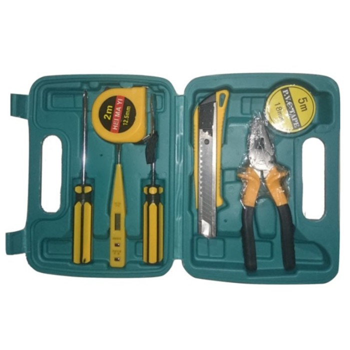 harga Tool box kit lengkap (obeng plus min tang meteran test pen cutter) oke Tokopedia.com
