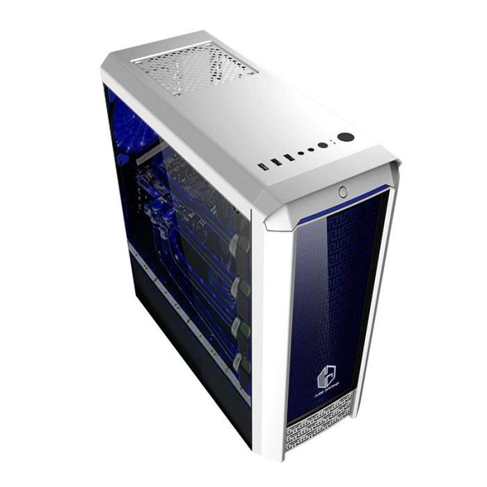 Cube gaming fioran - full acrylic window - rgb list bar - 1x12cm fan