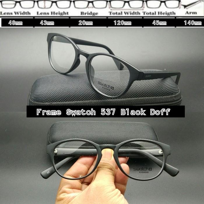 harga Frame Kacamata Swatch 537 Black Doff Kacamata Baca - Idz Blanja.com