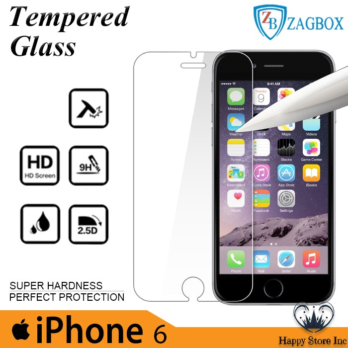 Happy tempered glass zagbox iphone 6