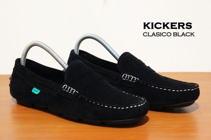 Jual sepatu slip on pria kickers slop kulit murah berkualitas - flat ... feebc07a7e