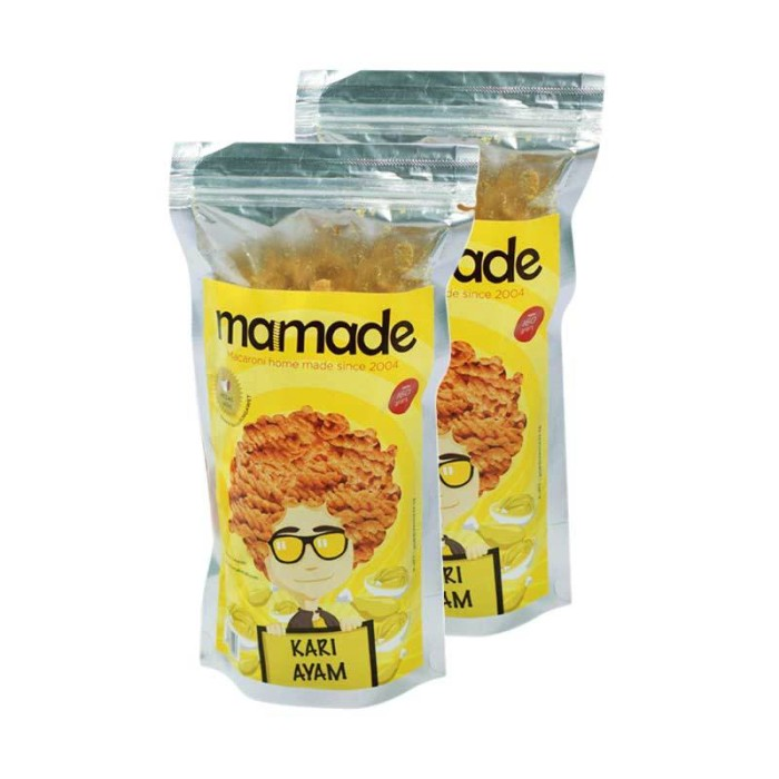Mamade Makaroni Ayam Bawang - Cemilan - 160gr - Paket 5 pcs. Source · Mamade Makaroni All Variant