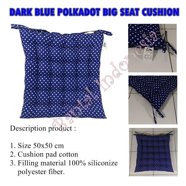 harga Bantal duduk besar / bantal kursi arm chair / lesehan polka biru tua Tokopedia.com